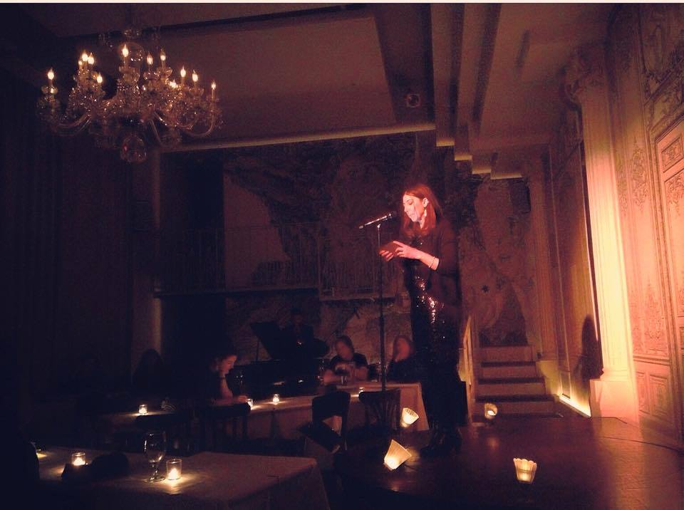 Alexandra Kostoulas reads her poetry at the Bowery Poetry Club in NYC Feb. 23 2015.
